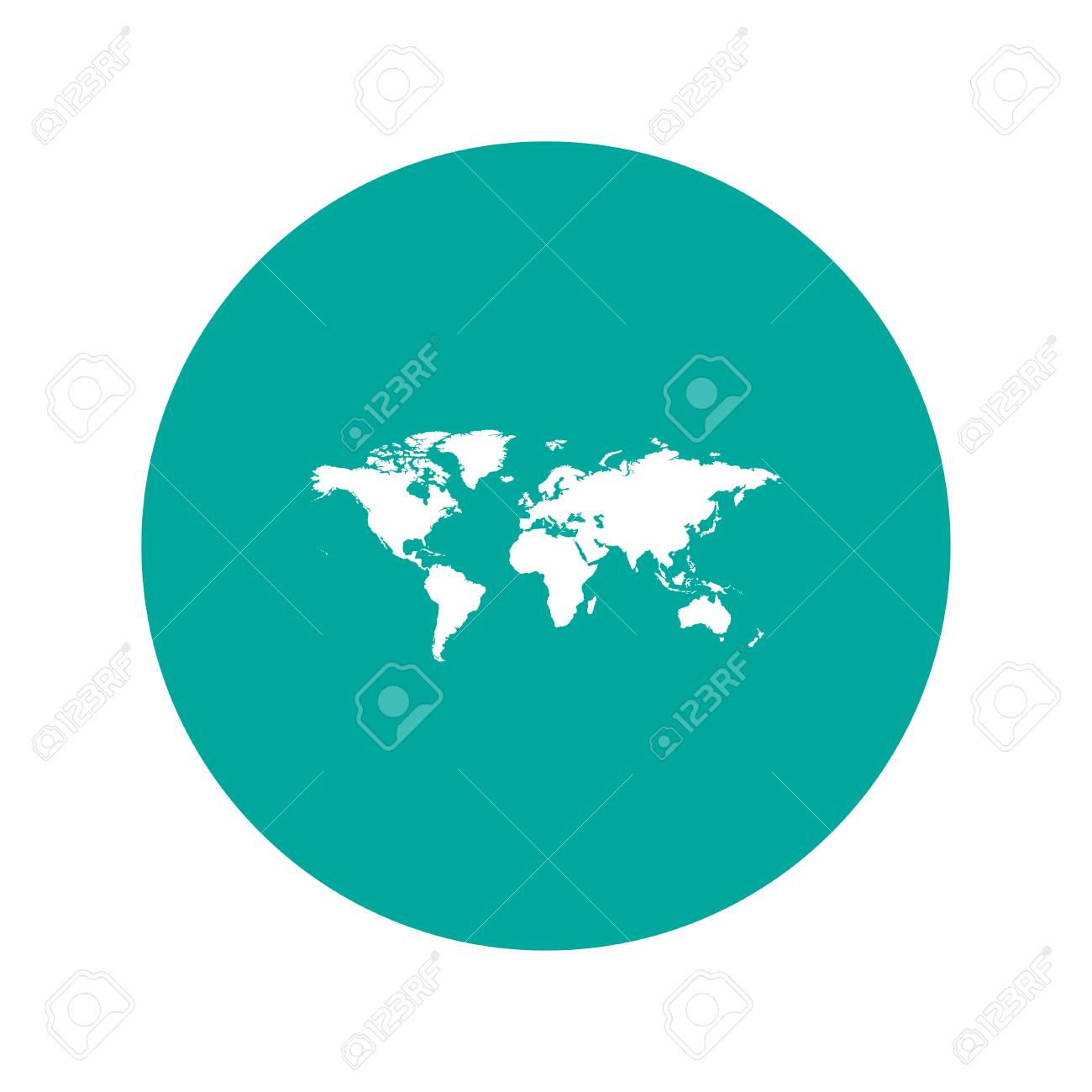 World map illustration flat design style eps 10 royalty free vector world map illustration flat design style eps 10 gumiabroncs Image collections