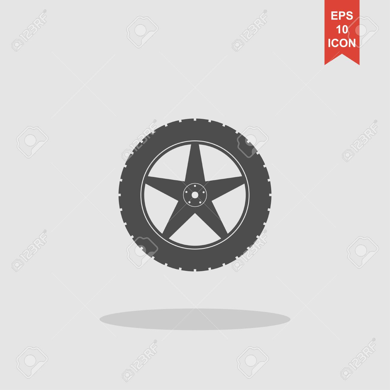 99549fe11d40d7 car wheel vector icon. Flat design style eps 10 Stock Vector - 59684373