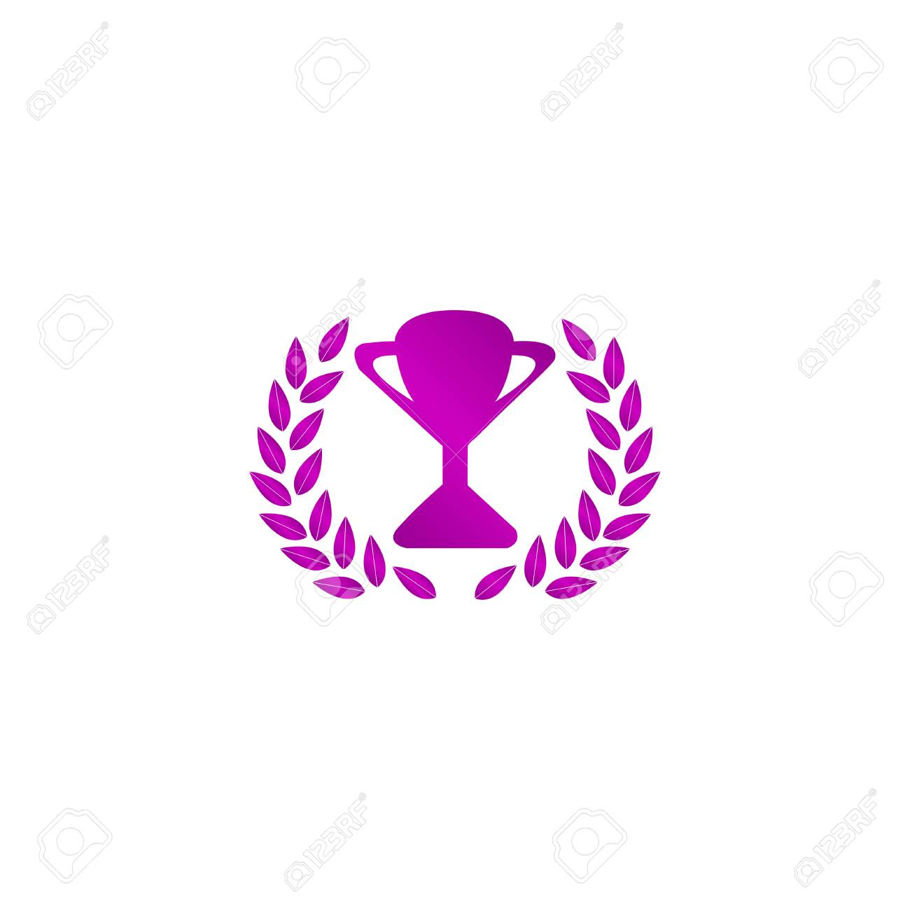 trophy and awards icon flat design style royalty free cliparts