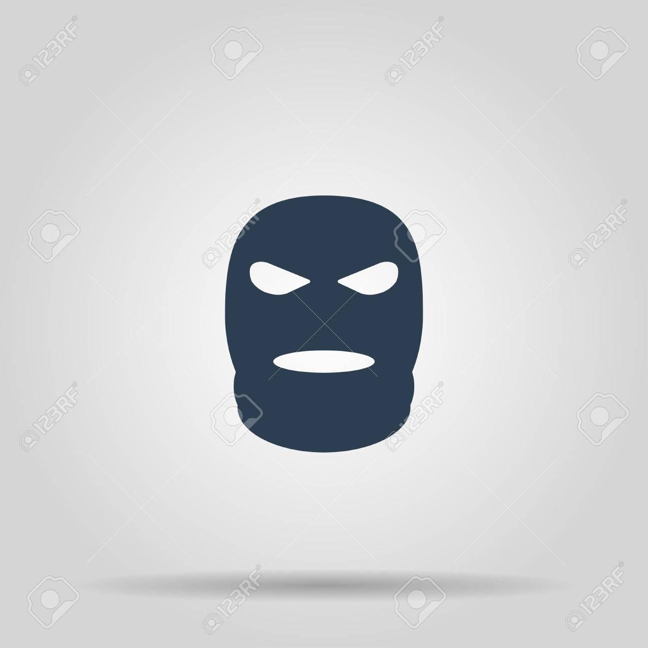 Pasamontañas Militar Terrorista Máscara Simple Icono. Ilustración De ...