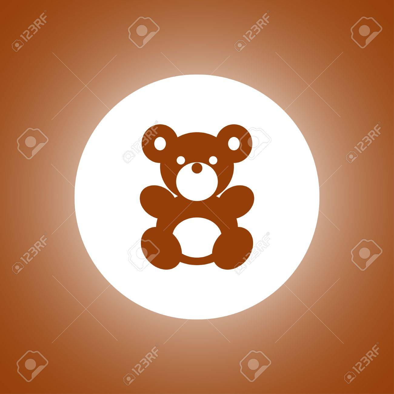 teddy bear plush toy flat icon for apps and websites royalty free