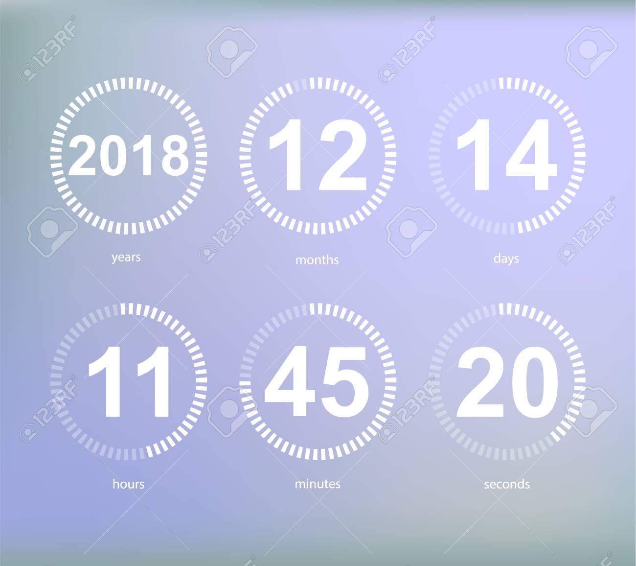 Days Hours Minutes Seconds Icon Of Timer Showing What Time Is Royalty Free Cliparts Vectors And Stock Illustration Image 96042859 How many seconds are in a day? 123rf com