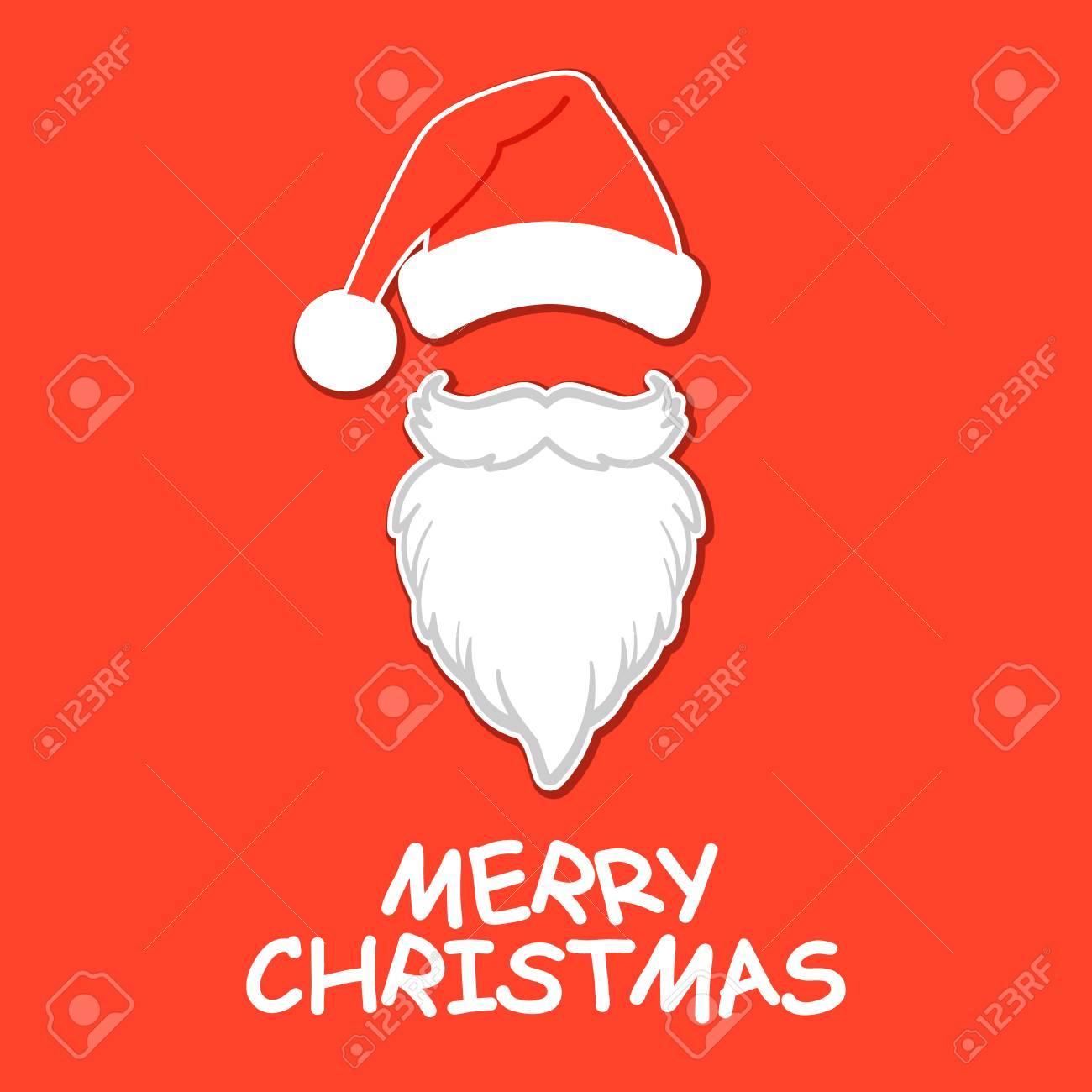 92f0ab372f24a Santa Claus hat and beard. Santa Claus vector illustration Stock Vector -  113006273