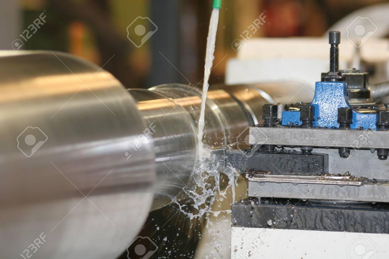 Lathe Turning Stainless Steel - Turning Stock Photo - 2290566