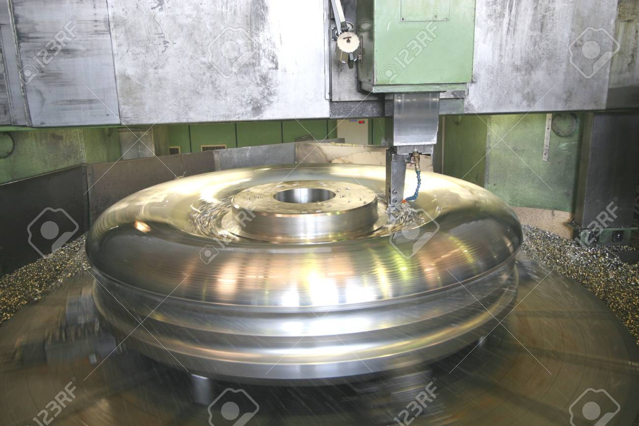 Lathe Turning Stainless Steel Stock Photo - 3232575