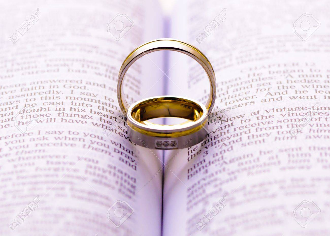 bible open ring marriage wedding celebration scripture to online at rings a picture stock on