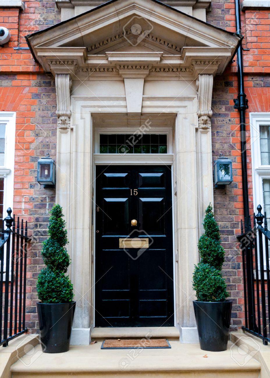 Beliebt Traditionelle Englische Viktorianische Haustür Lizenzfreie Fotos RB83