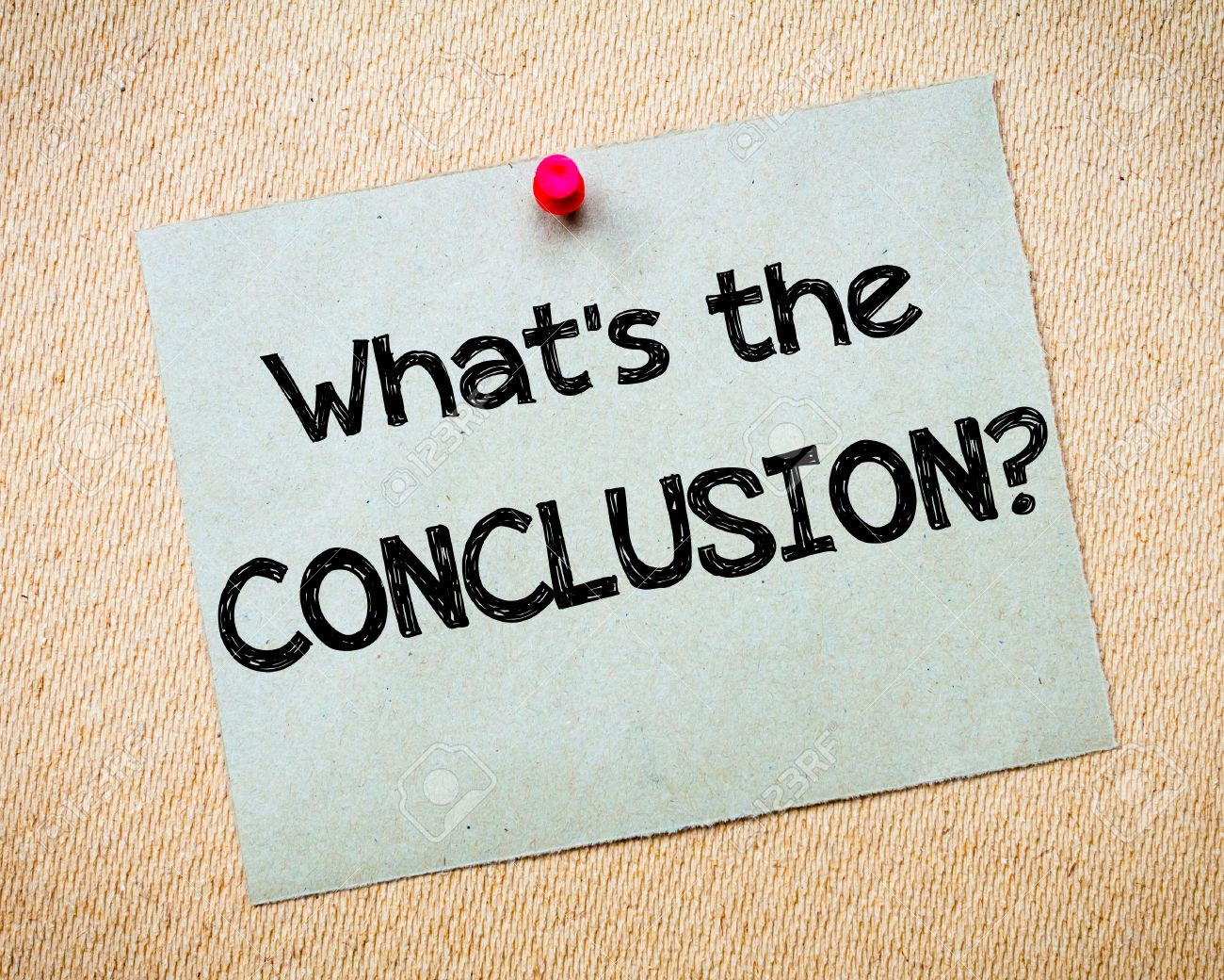 Whats a conclusion