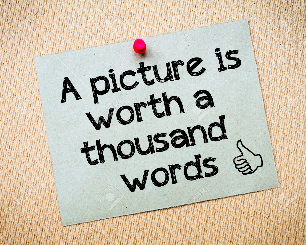 Words thousand a pictures are worth