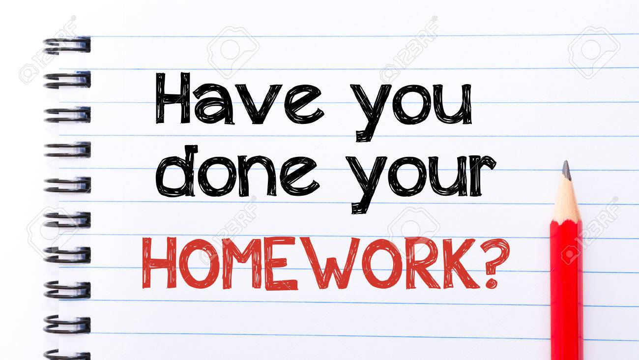 have you done your homework text written on notebook page red have you done your homework text written on notebook page red pencil on the right