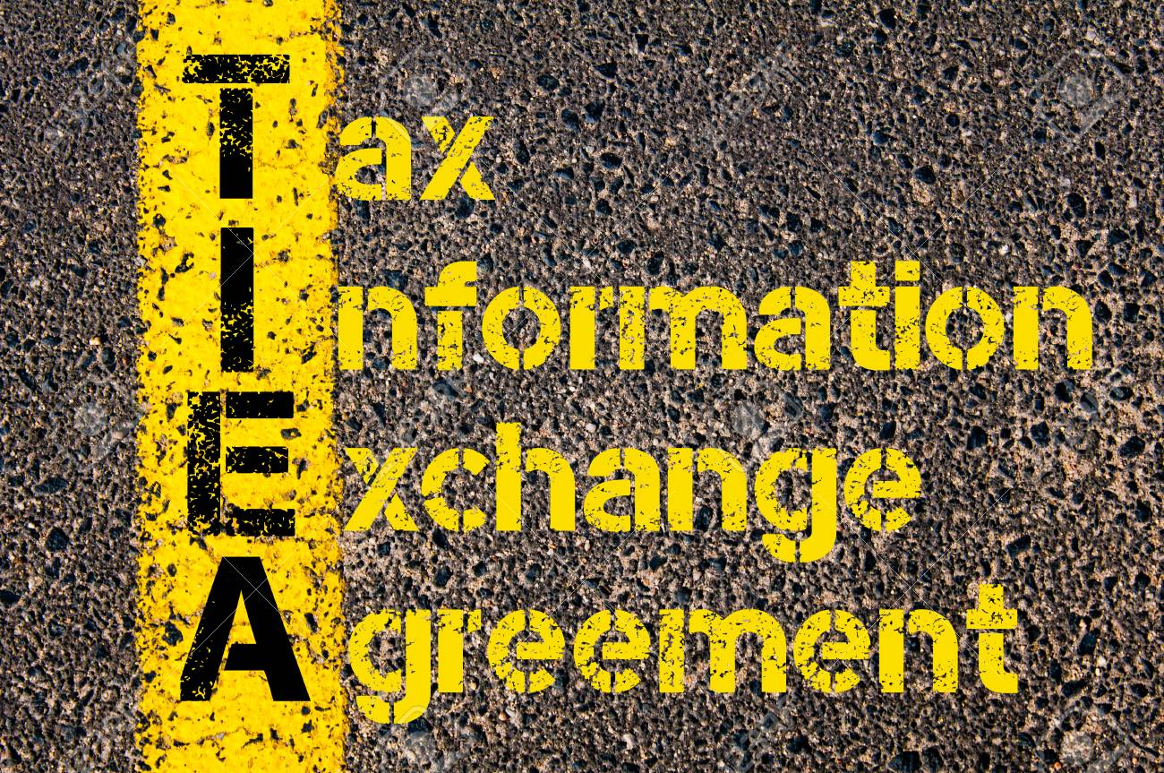 Exchange Agreements | Konzeptbild Des Buchhaltungs Geschafts Akronyms Tiea Tax Information