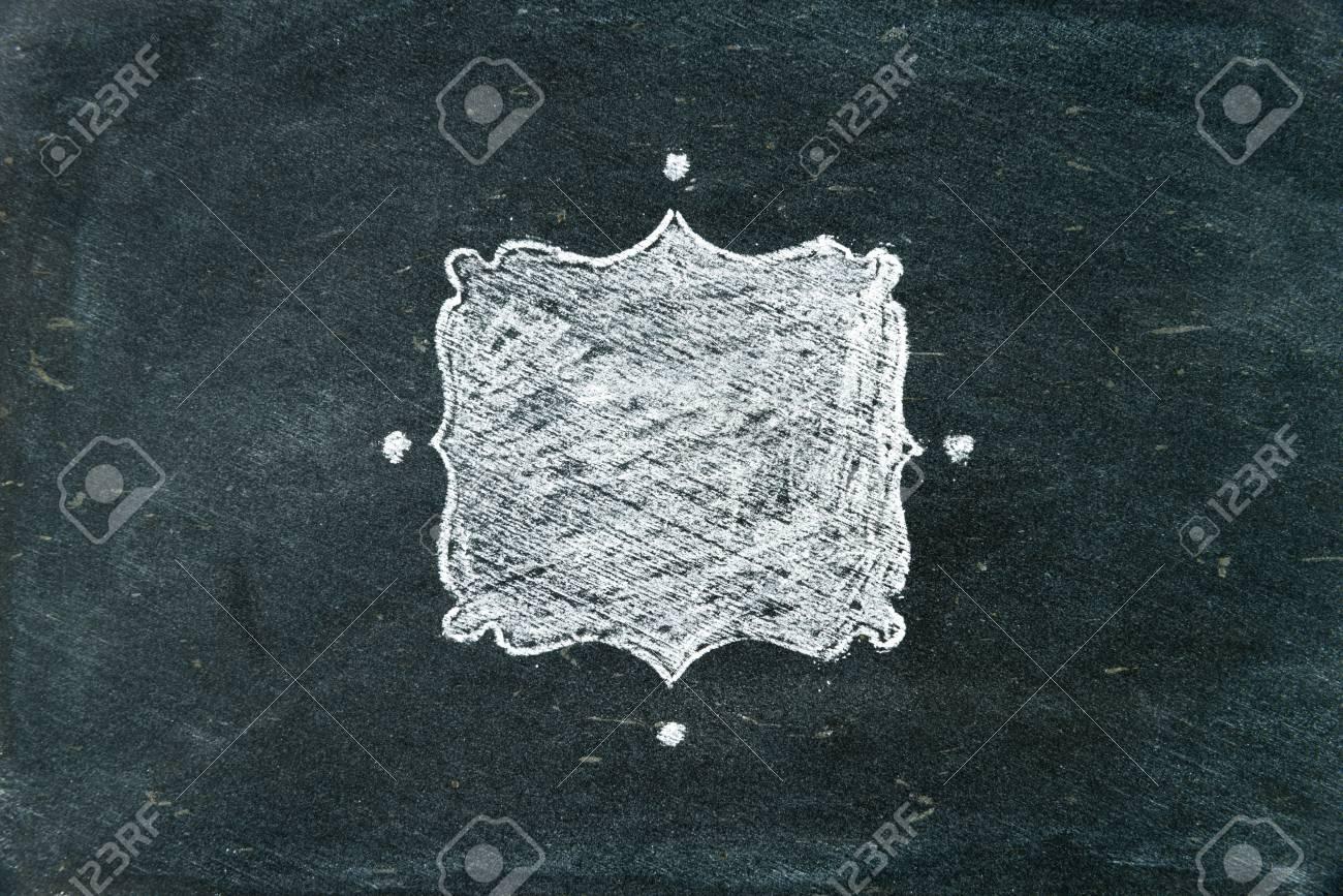 Handzeichnung Kreide Rahmen Mit Weißen Auf Tafel Als Design ...