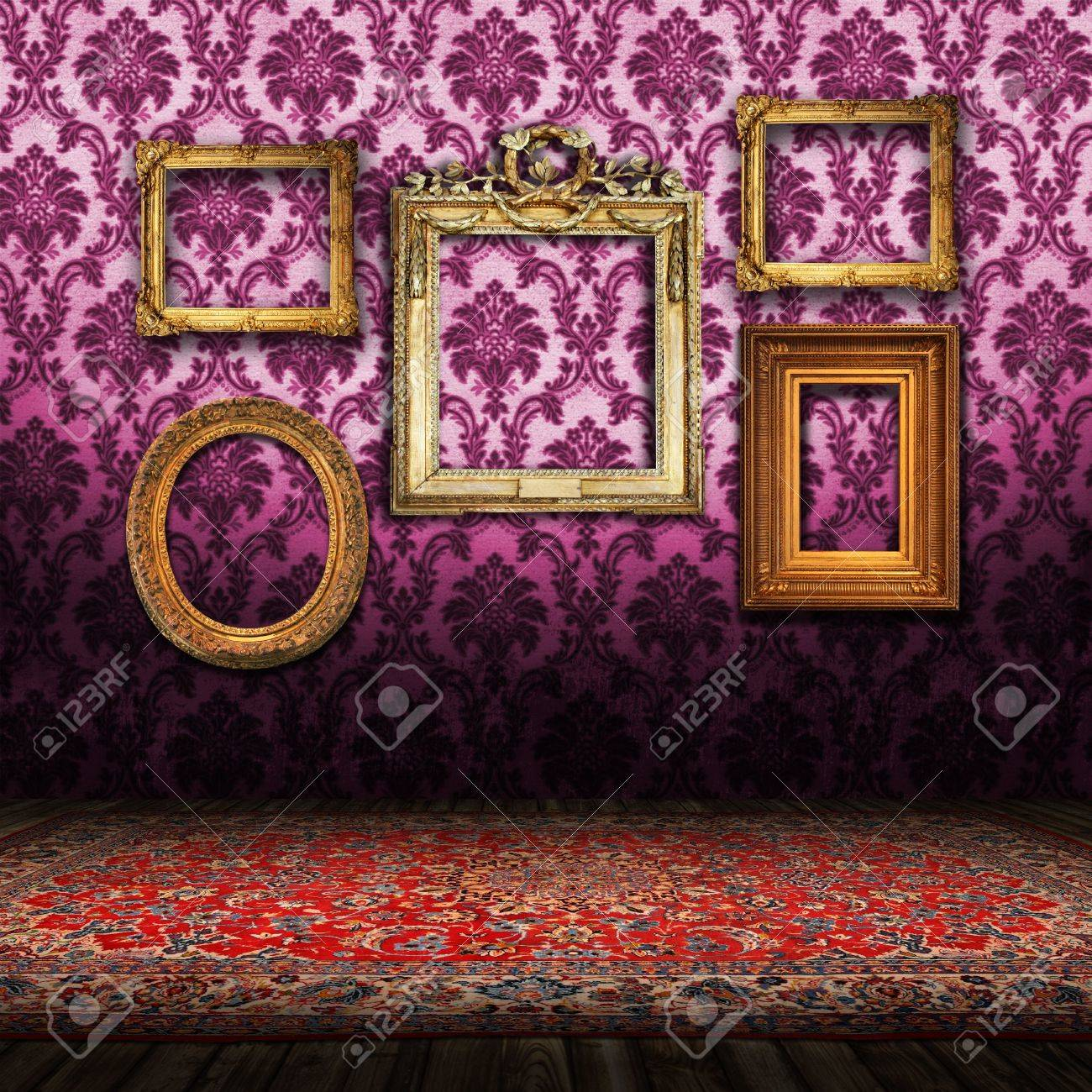Old Styled Interior and a Persian carpet Stock Photo - 7379329