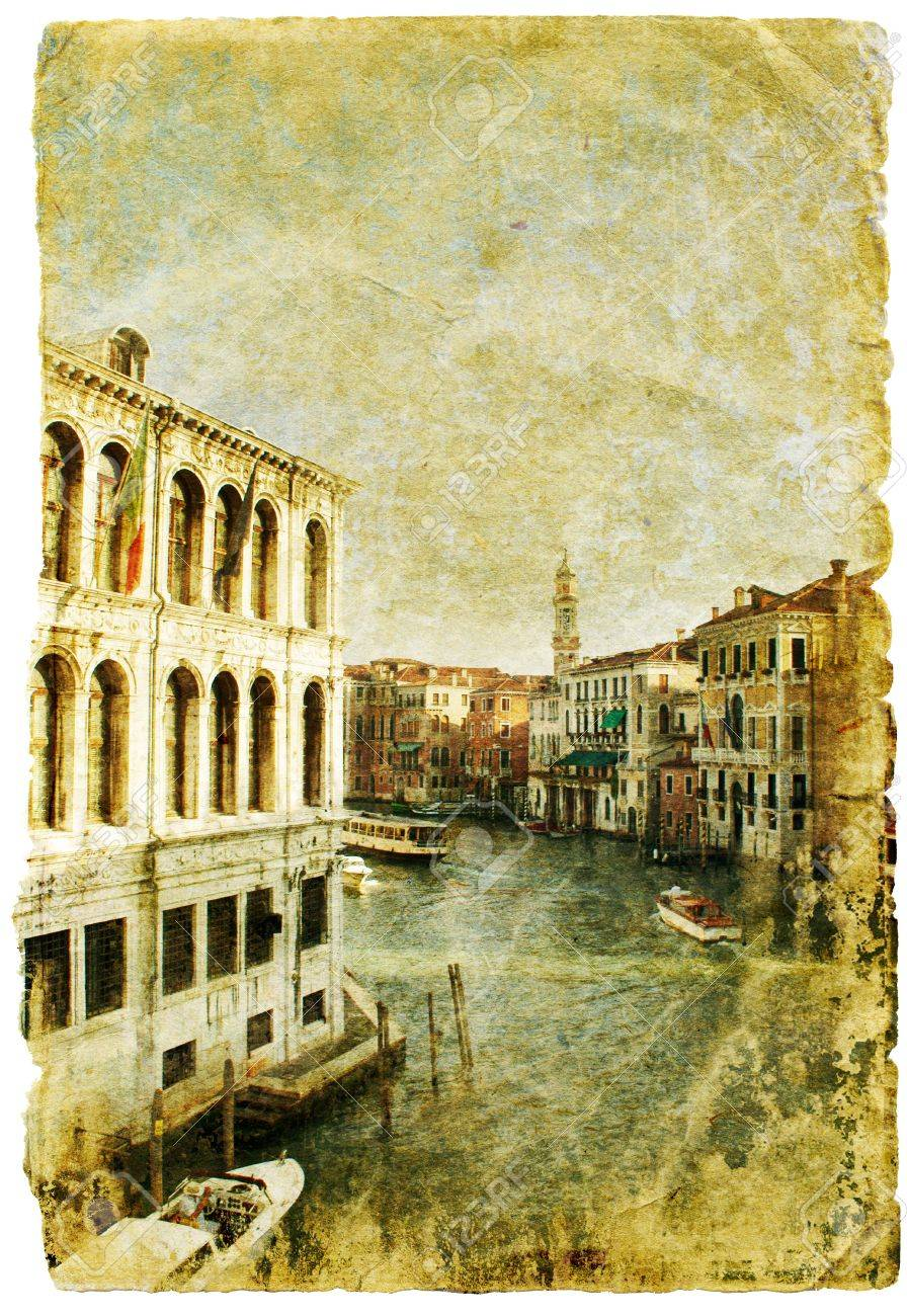 Venice - great italian landmarks - retro styled picture Stock Photo - 9242746