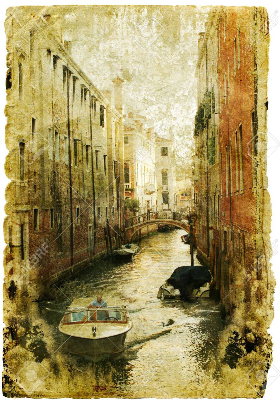 Venice - great italian landmarks - retro styled picture Stock Photo - 9242925