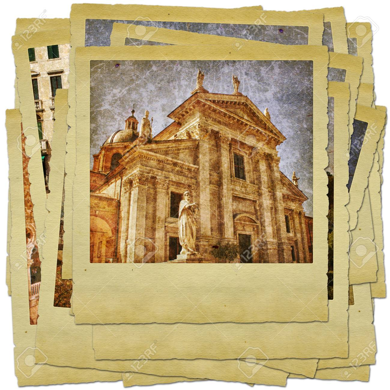 Urbino - retro style photo collage Stock Photo - 9373090