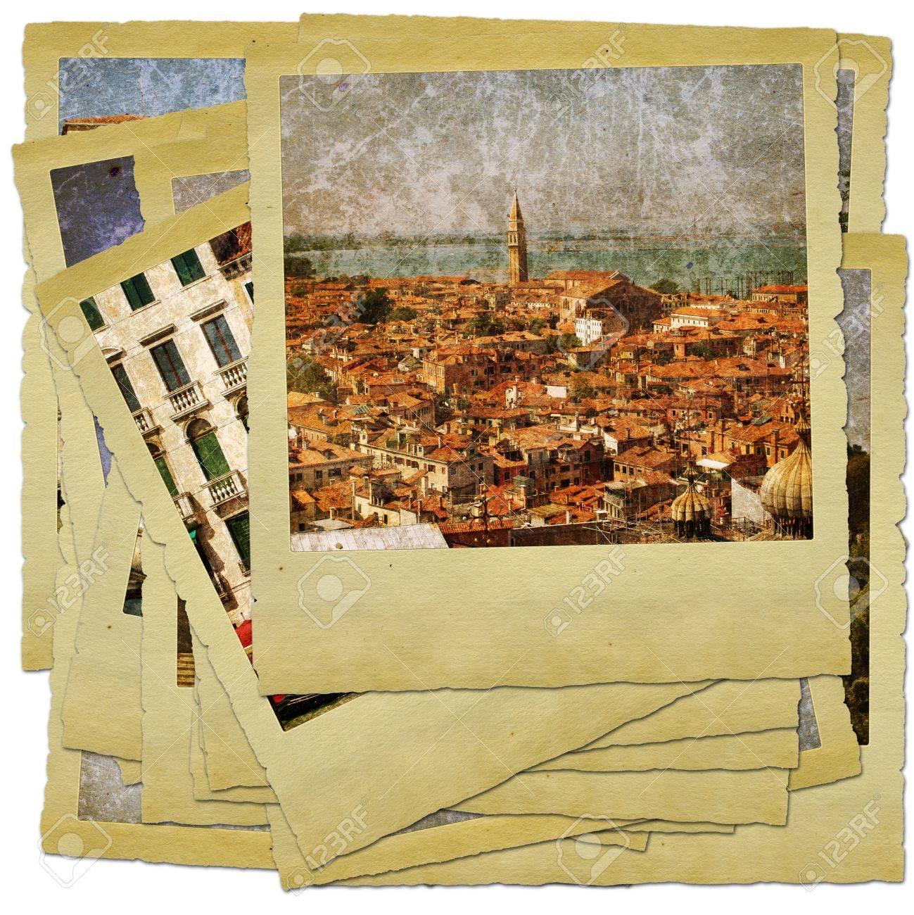 Venice - great italian landmarks - retro styled photo collage Stock Photo - 9373091