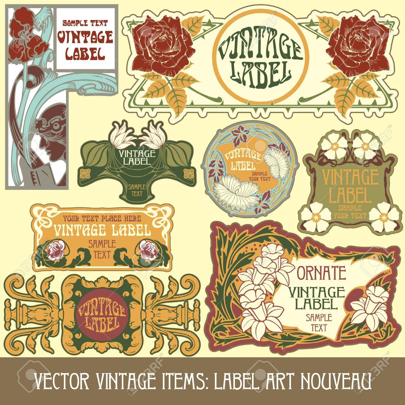 4,593 Art Nouveau Border Stock Illustrations, Cliparts And Royalty ...