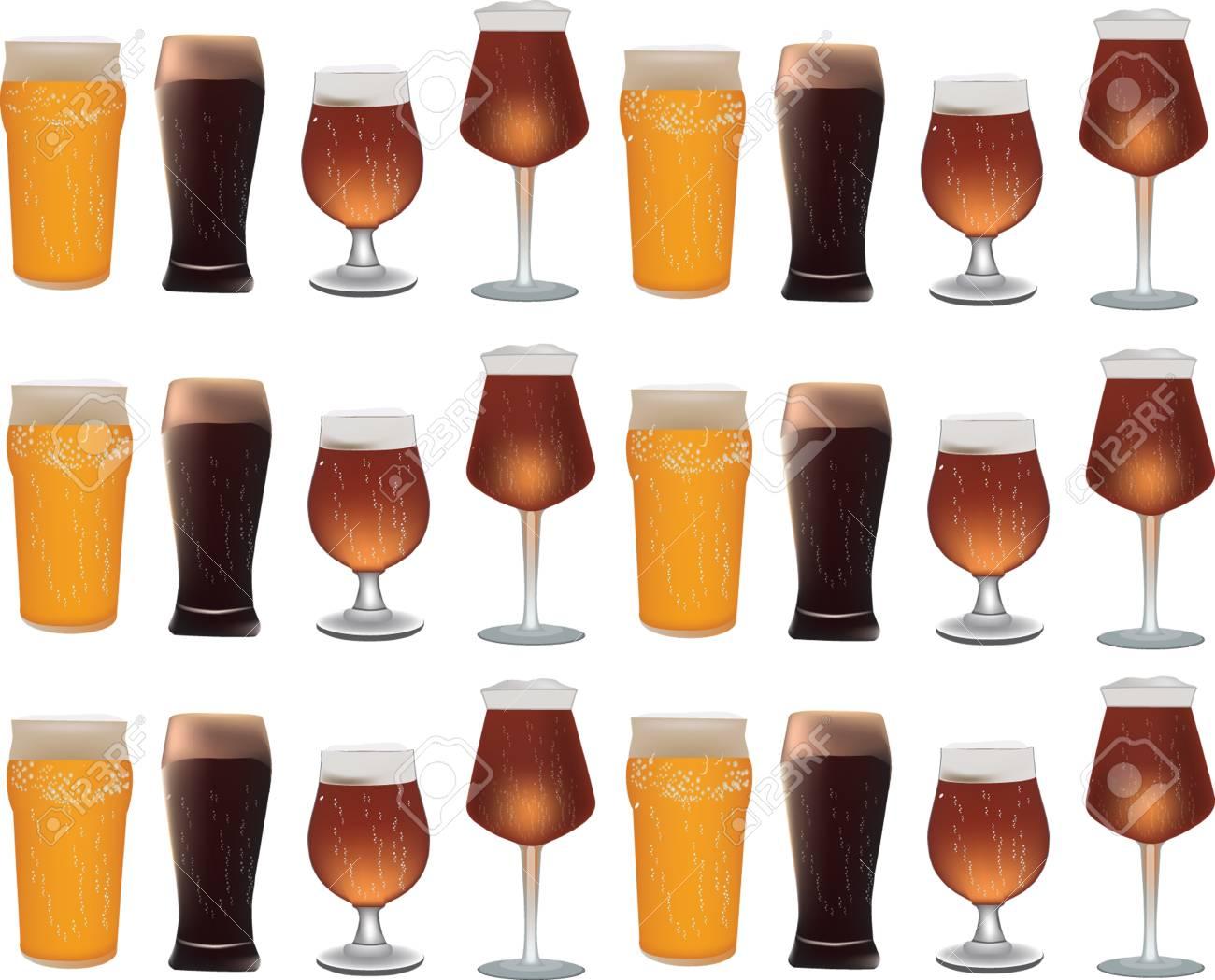 glasses of beer Stock Vector - 14227199