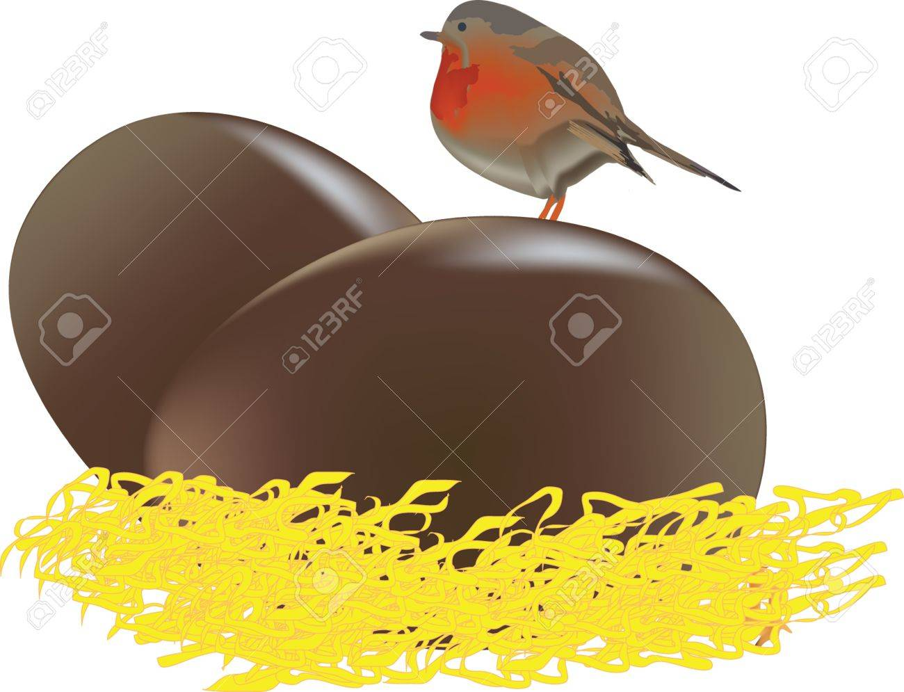 chocolate eggs Stock Vector - 17097797