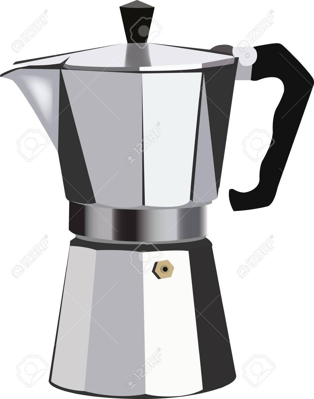 Cafetera italiana en aluminio para filtrar el café