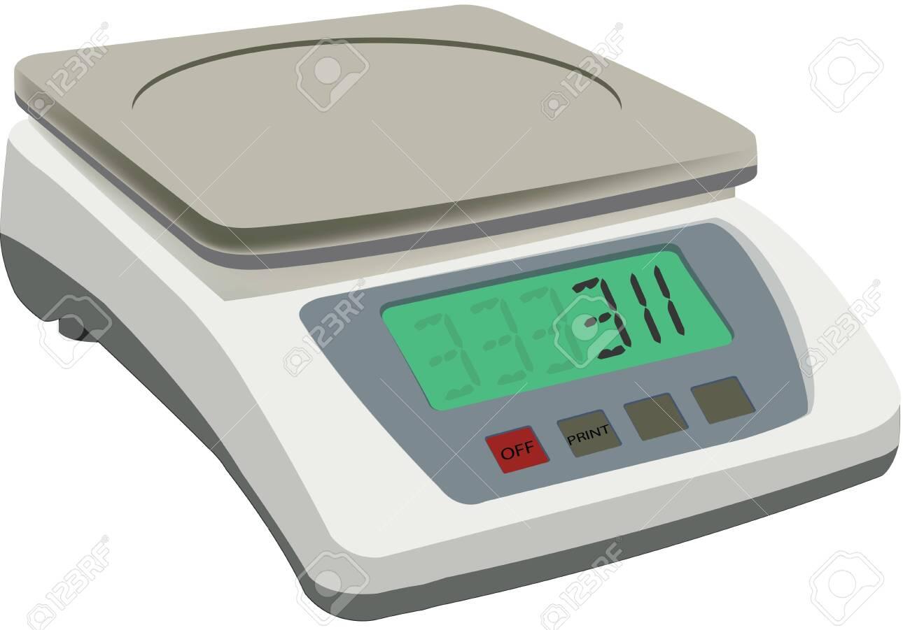 Kitchen electronics balance with led displey - 147974161