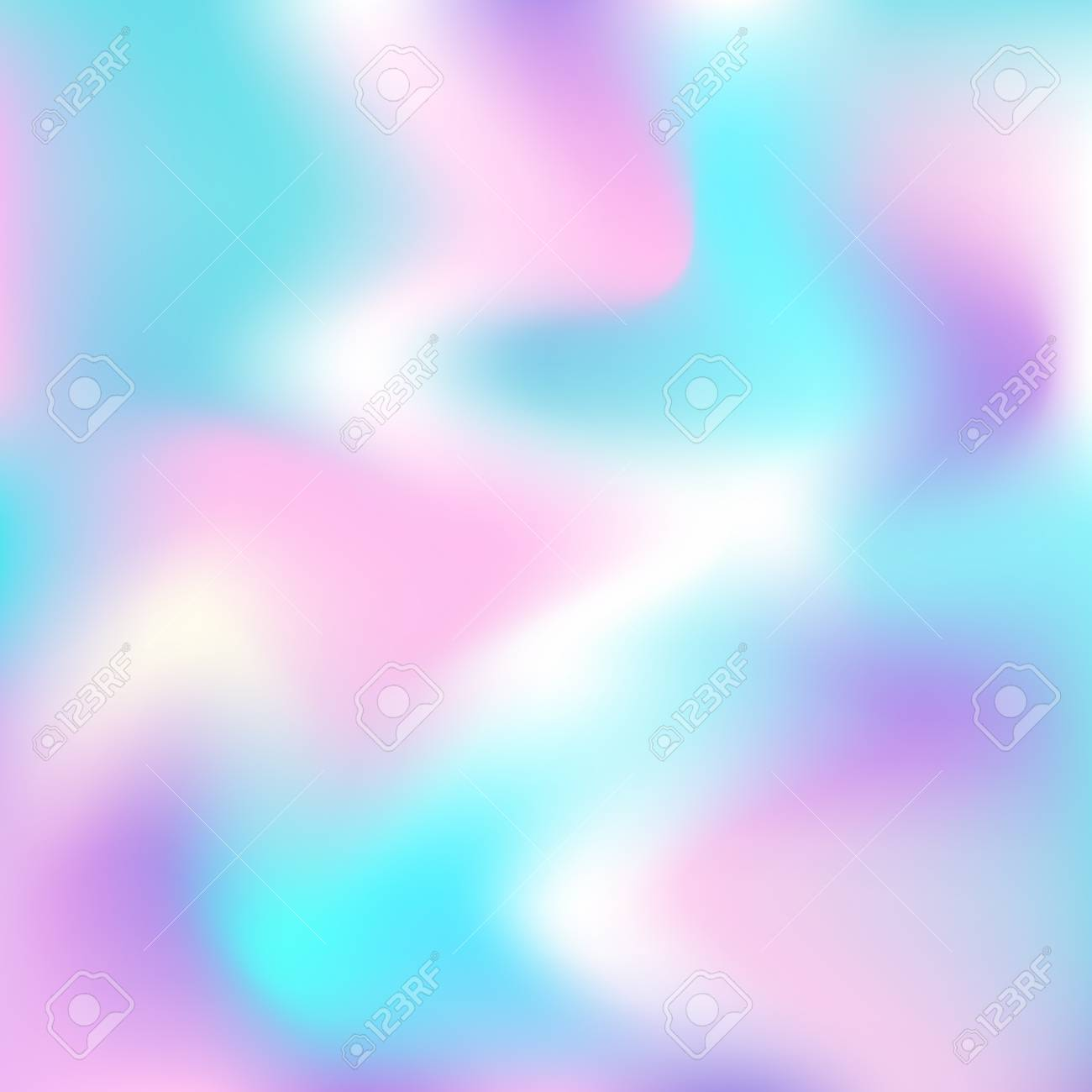 Vector Holographic Abstract Background In Neon Colors Blur Colorful