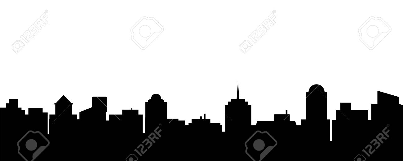 black vector city silhouette vector illustration of architectural rh 123rf com city skyline silhouette vector london city silhouette vector