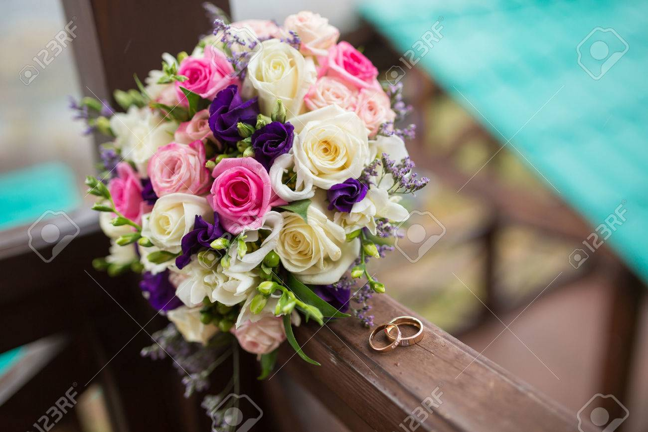 Wedding flowers stock photos royalty free wedding flowers images colorful bridal beautiful bouquet of different flowers izmirmasajfo