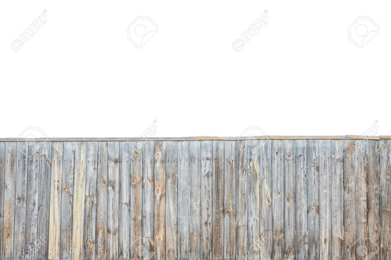 Staccionata Bianca In Legno priorità bassa di legno grigia della rete fissa isolata sopra priorità  bassa bianca. concetto di trama di recinzione