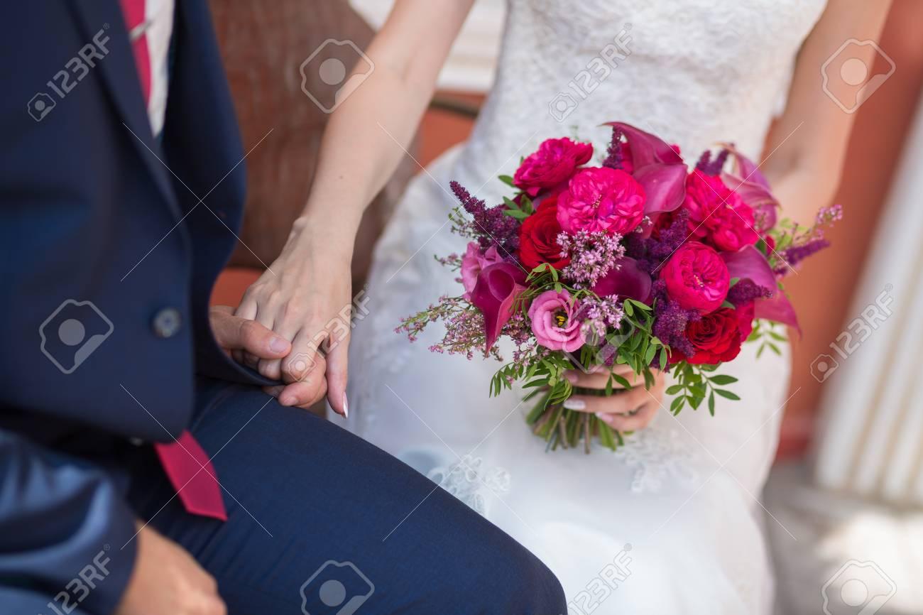 Hochzeit Schone Rosa Rot Und Marsala Weding Bouquet Von
