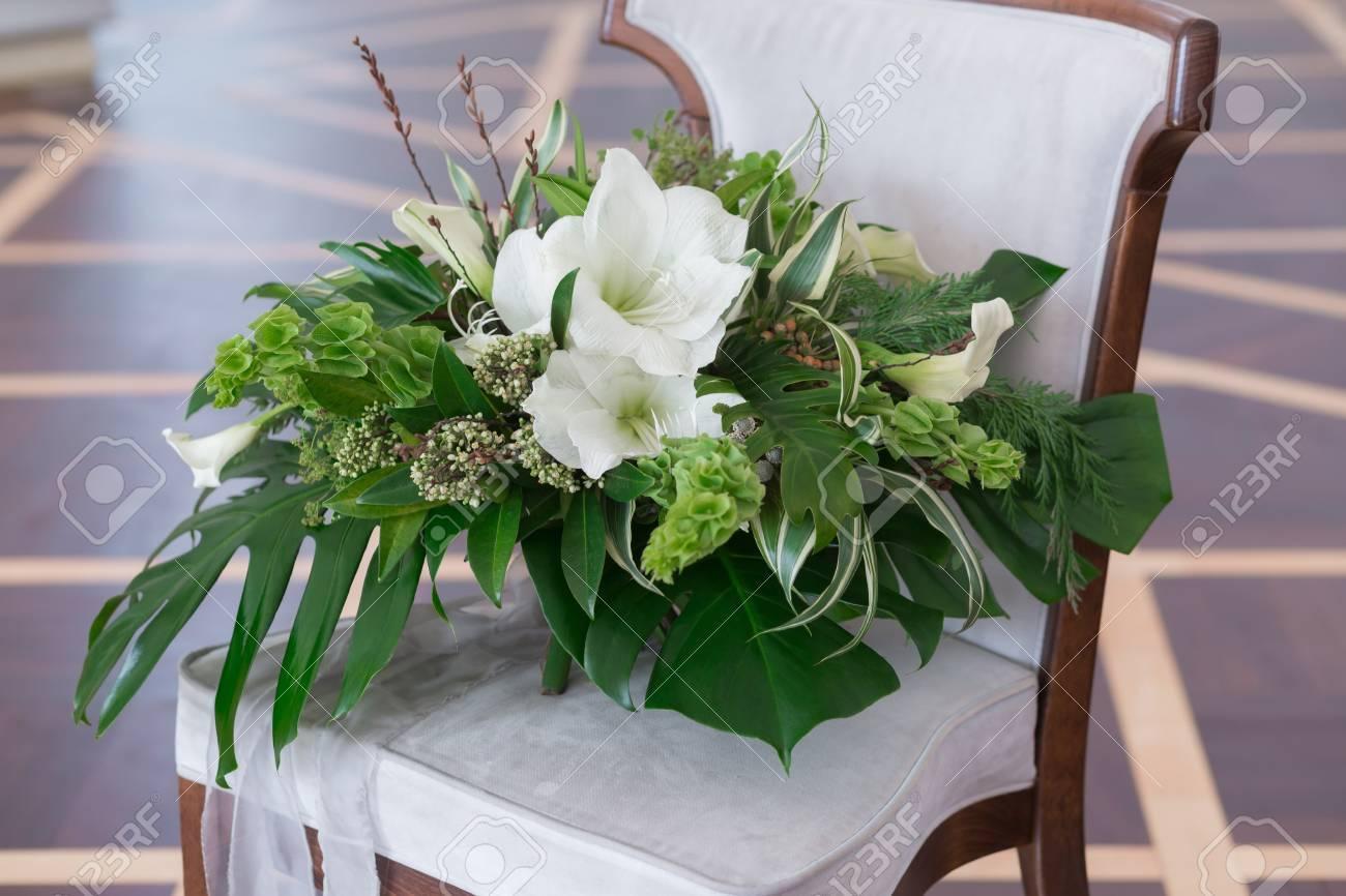 Wedding Bouquet Of Tropical Flowers. Blossom Tropical Flowers ...