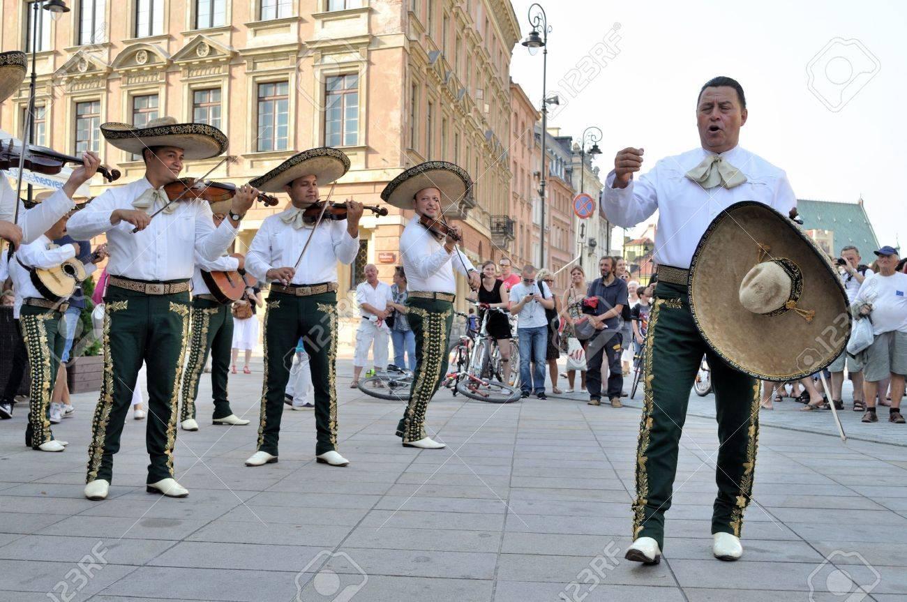 WARSAW - AUGUST 27:  Mariachi band
