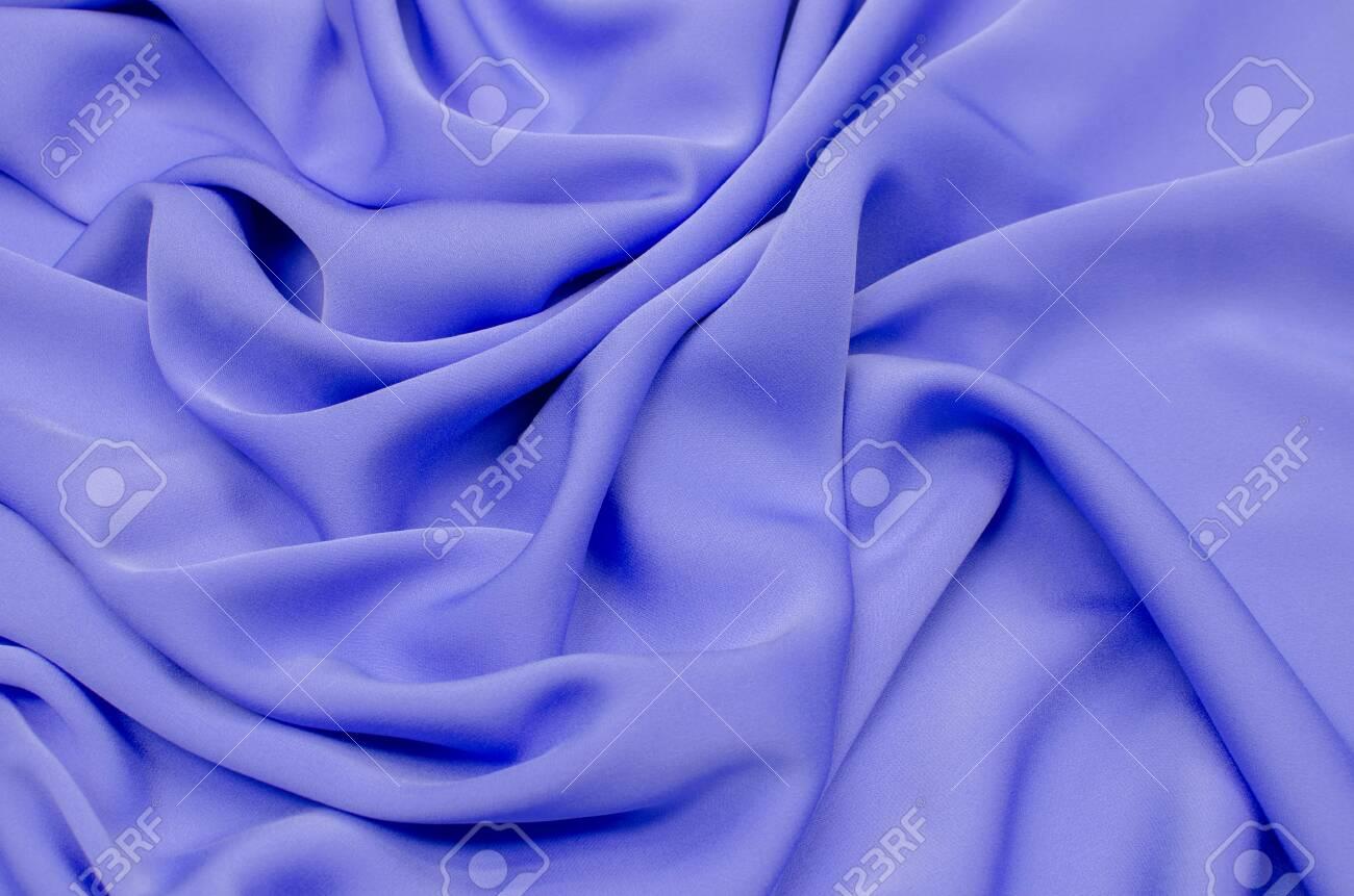 Silk Fabric Crepe De Chine Bright Blue Foto Royalty Free Gravuras Imagens E Banco De Fotografias Image 117090803