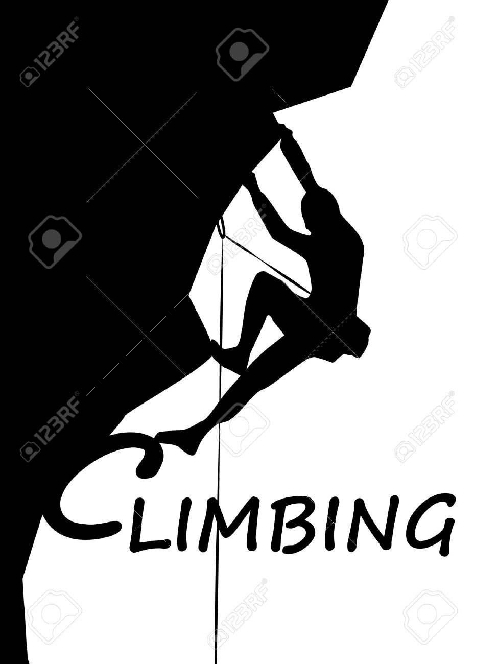 Climbing Mountaineer Sport Logo Stock Photo, Picture And Royalty ...