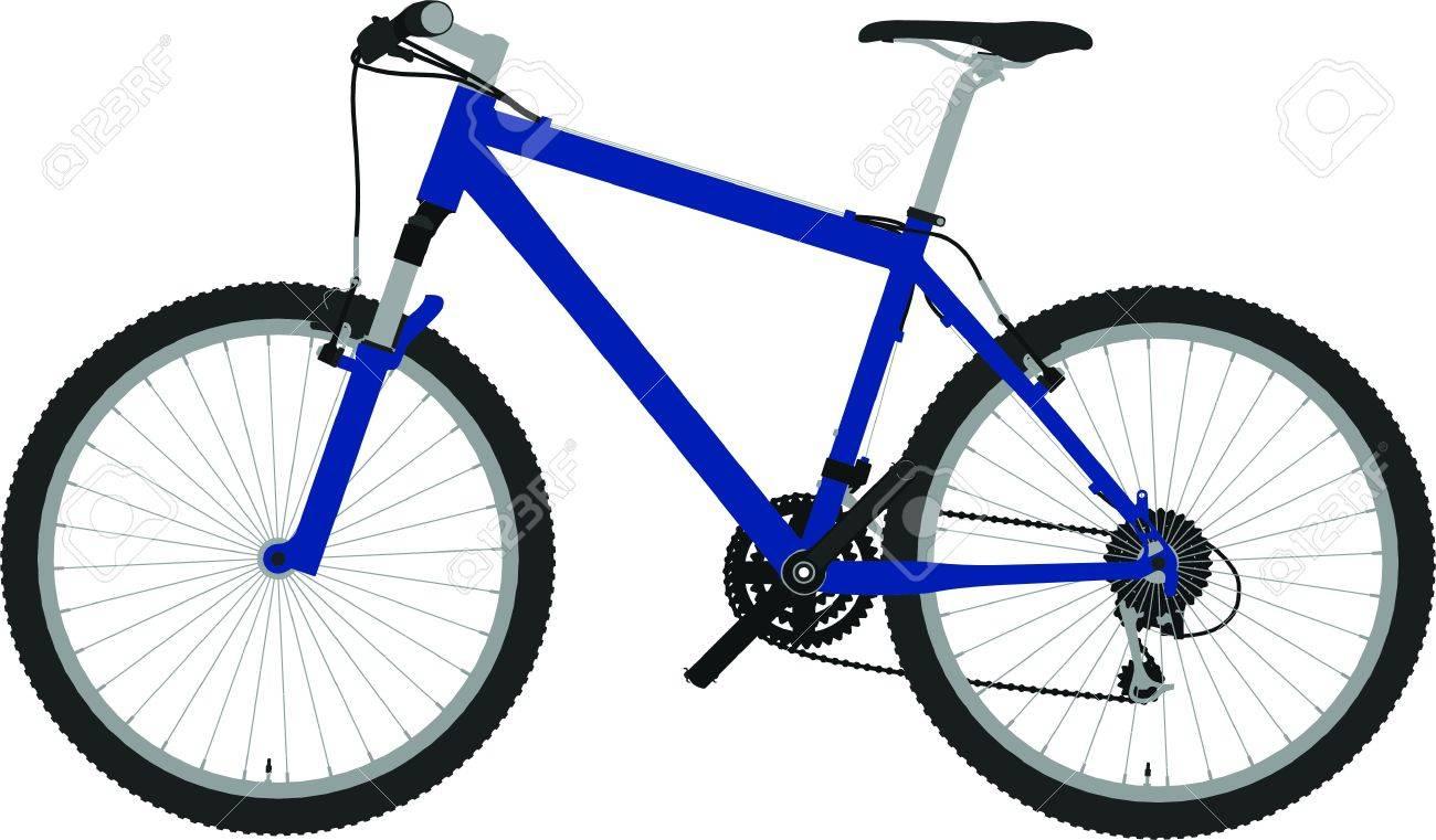 bike outline silhouette vector Stock Vector - 12379281