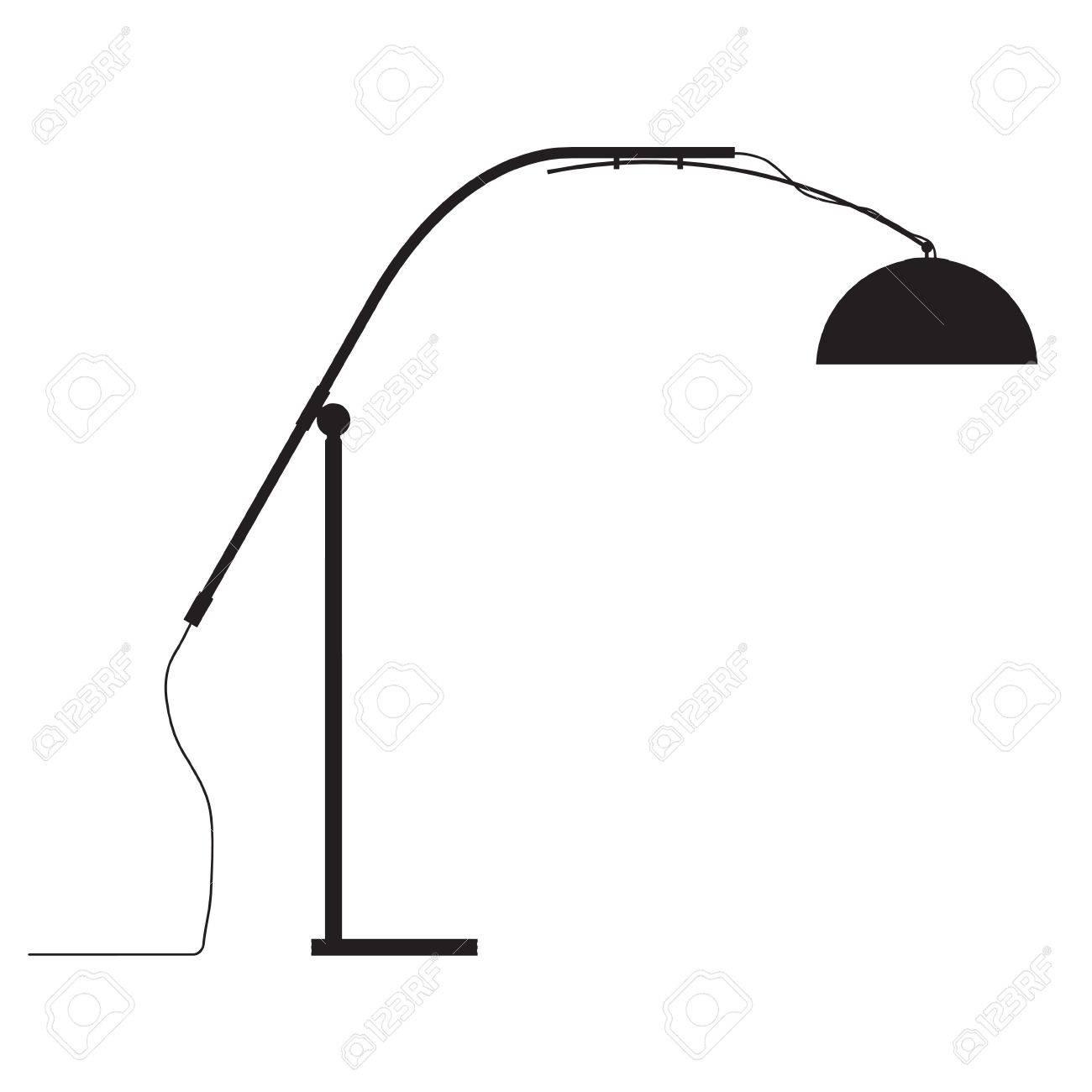 modern lamp vector outline silhouette Stock Vector - 12381194