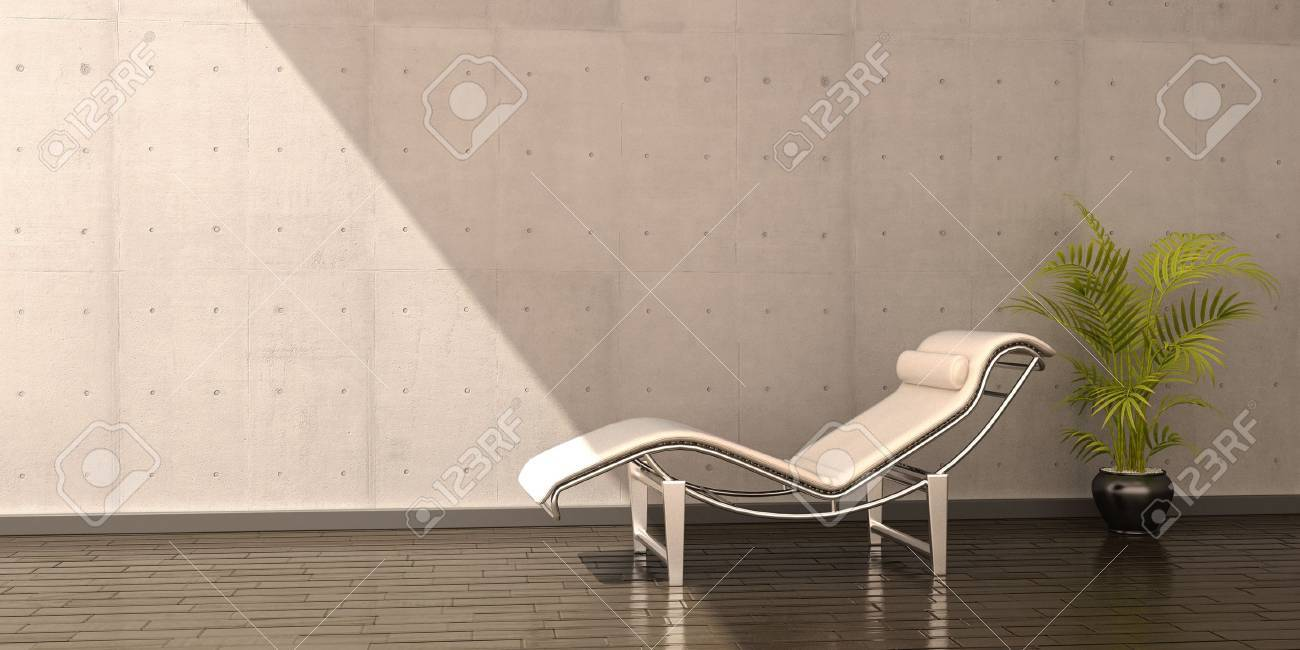 relax chair white leather flower interior scene Stock Photo - 15046616