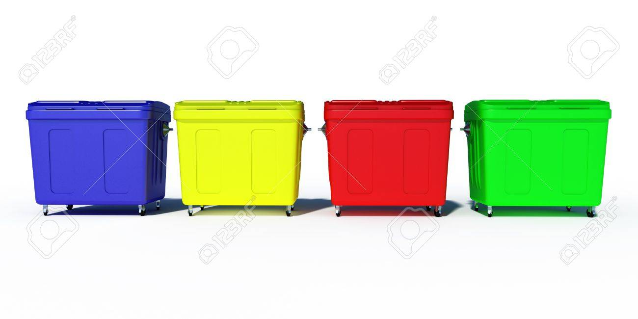 colored trash recycling bins illustration Stock Illustration   15839657. Colored Trash Recycling Bins Illustration Stock Photo  Picture And