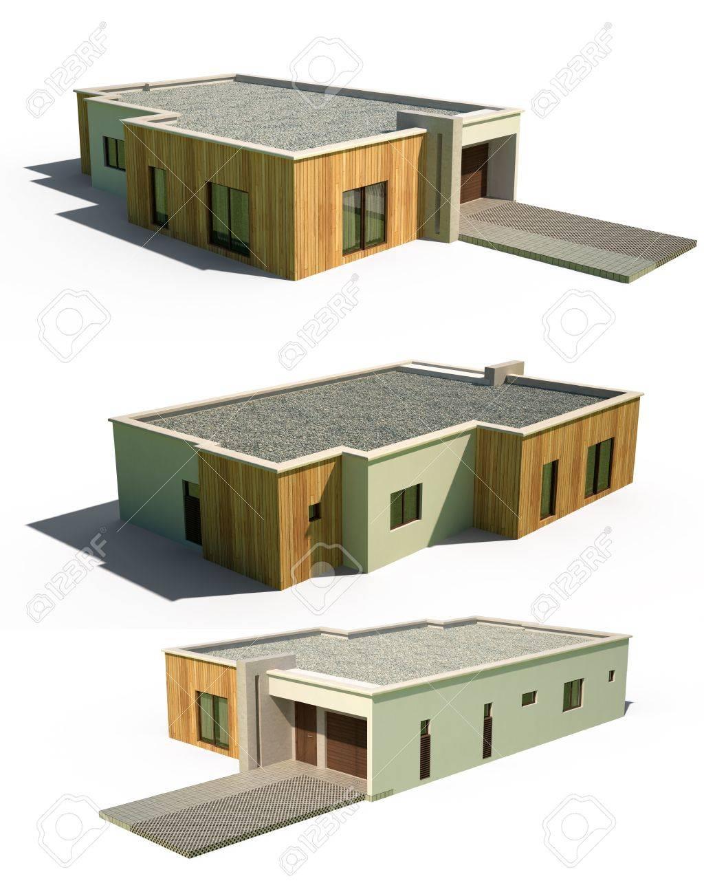 Toiture Bac Acier Maison. Latest Maison Toit Plat Et Toiture ...