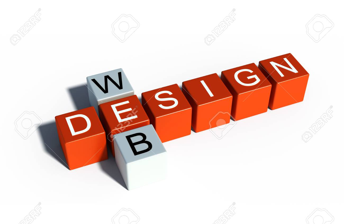 web design sign illustration Stock Photo - 17336343