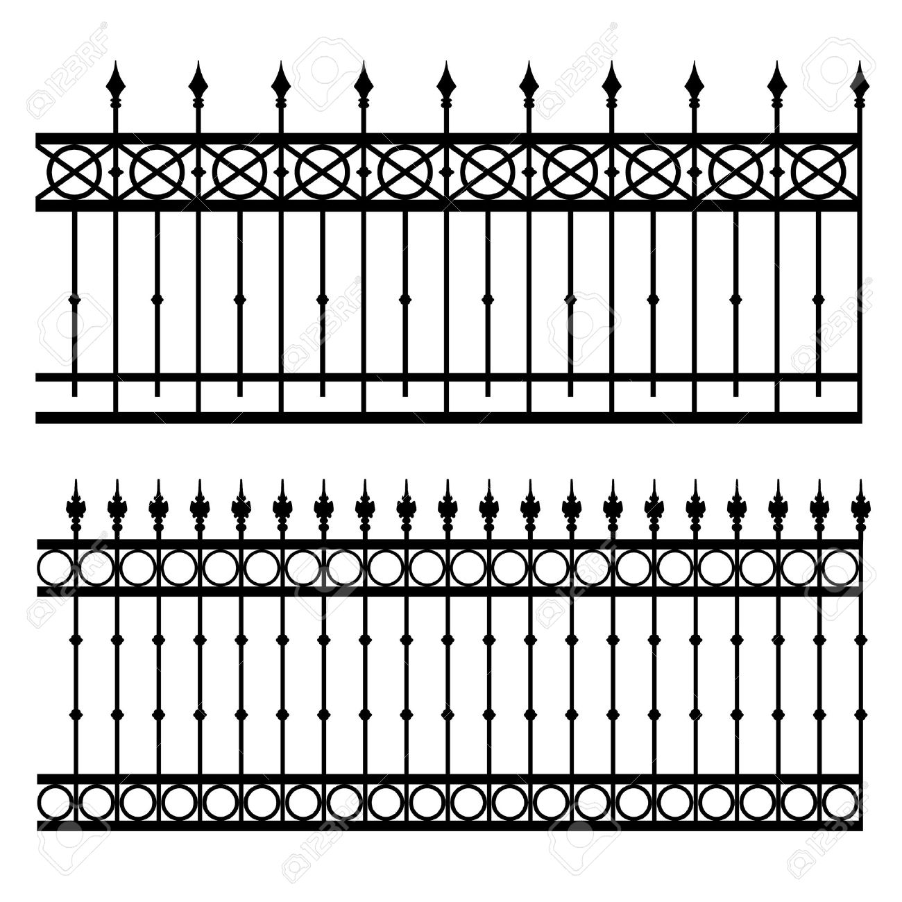iron fence vector illustration Stock Vector - 17513848