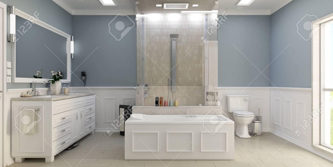 Cuarto De Baño Clásico Moderno Con Ducha Fotos, Retratos, Imágenes Y ...