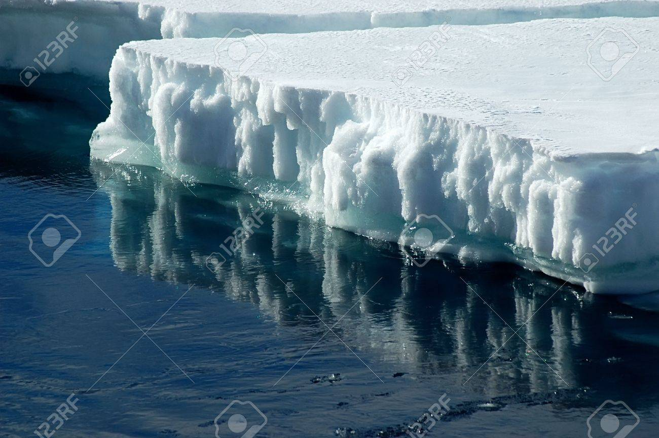 Antarctic ice floe with reflection Stock Photo - 5809693