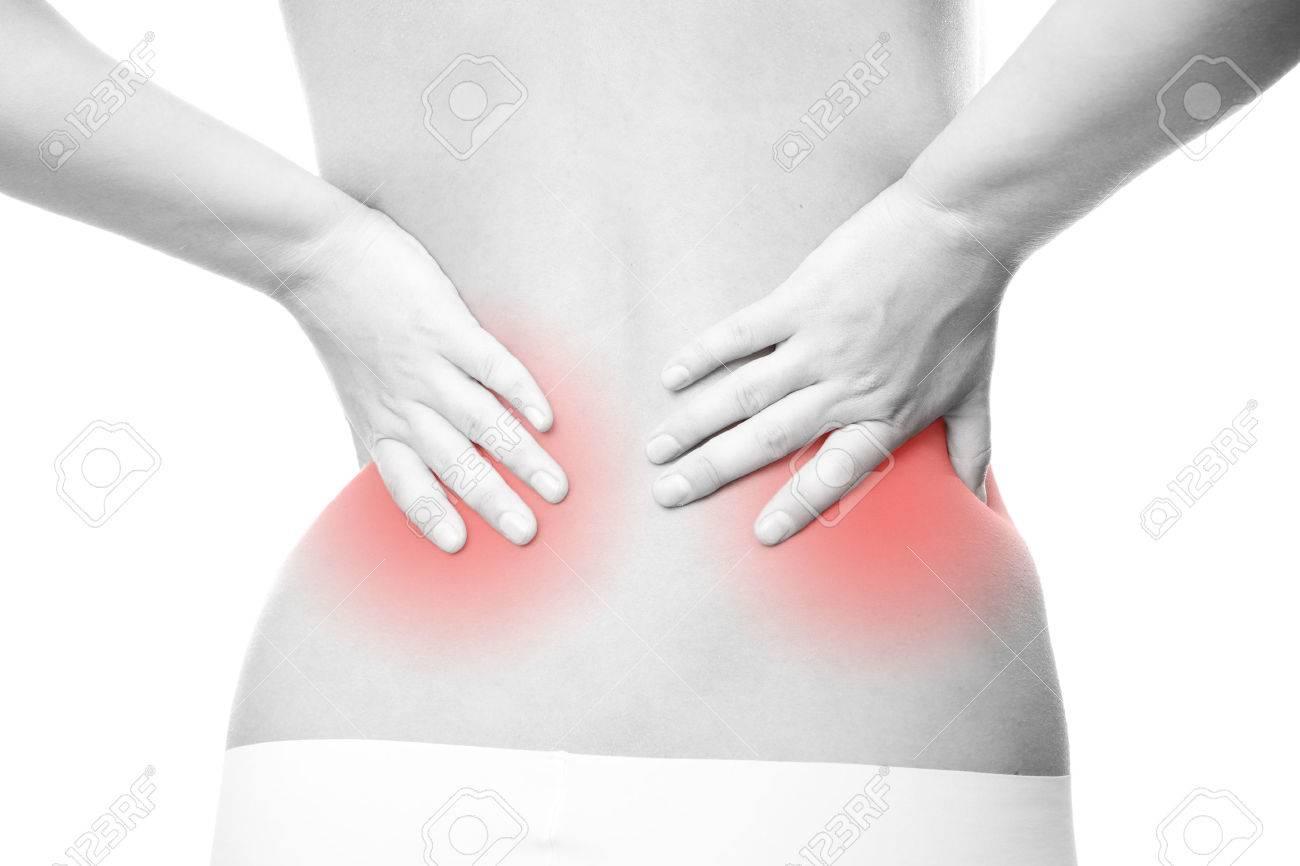 ont i nedre delen av ryggen njurar