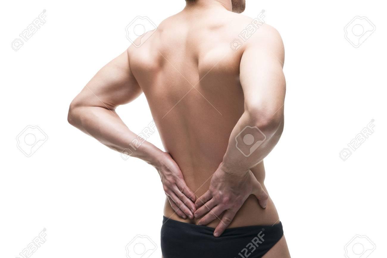 Hombre Con Dolor De Espalda. El Dolor En El Cuerpo Humano ...