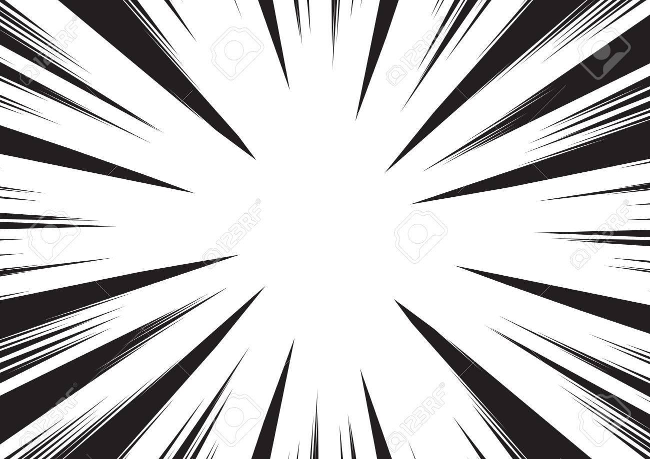 Hintergrund Der Radialen Linien Für Comic-Bücher. Manga ...