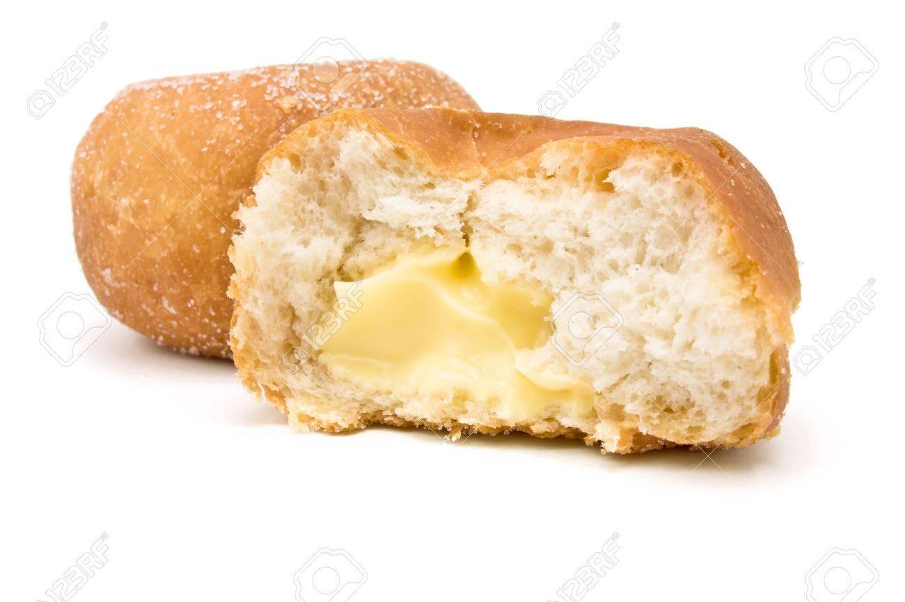 Custard filled Donut isolated against white background. Stock Photo - 6828176