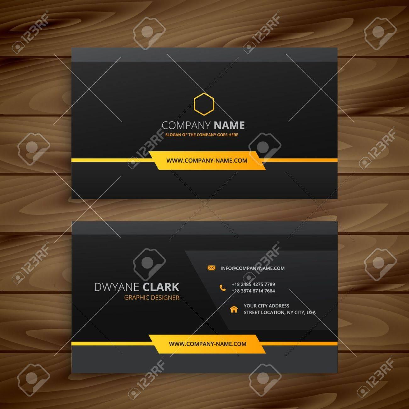 Dark black business card royalty free cliparts vectors and stock dark black business card stock vector 53481940 colourmoves