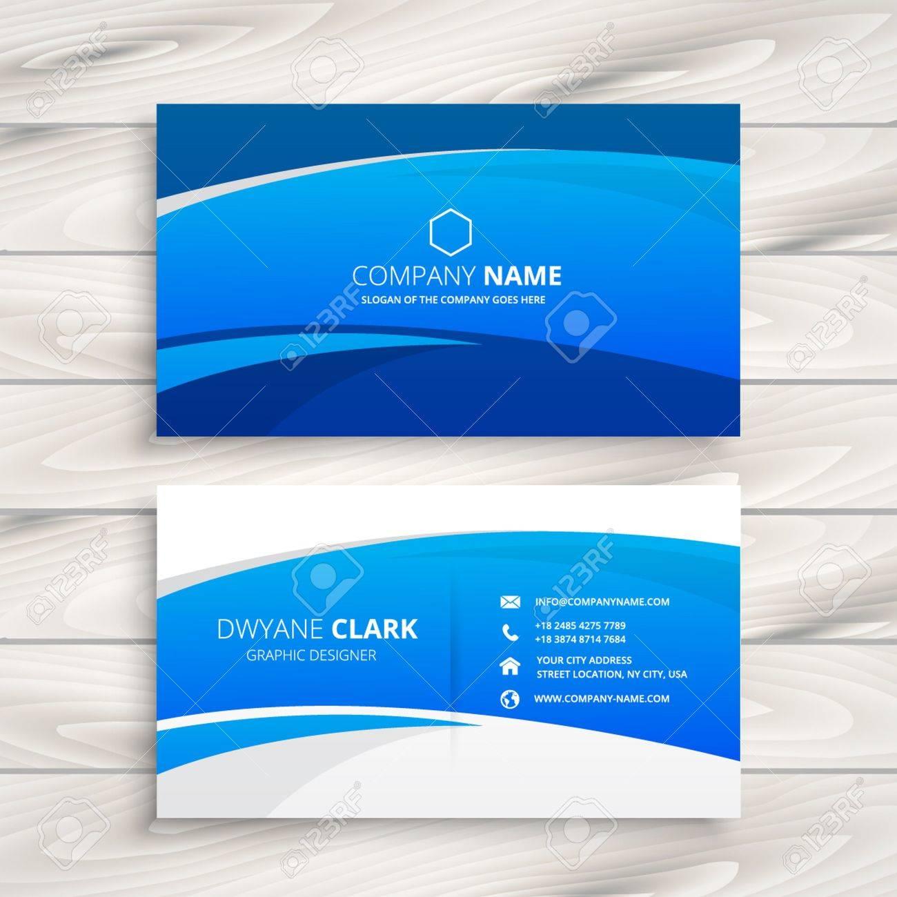 blue wave business card - 53481690